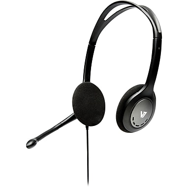 V7® HA201-2NP Black Stereo Headset