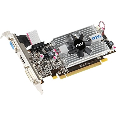 MSI R6570-MD2GD3/LP Radeon HD 6570 GPU Graphic Card With AMD Radeon Chipset, 2GB DDR3 SDRAM