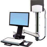 Ergotron® StyleView® 45-271-026 Sit Stand Combo Arm For Keyboard/Mouse/Scanner Up to 29 lbs.