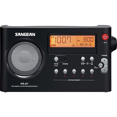 Sangean PR-D7 AM/FM Digital Compact Portable Radio