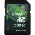Kingston® SD10V Secure Digital High Capacity Flash Memory Card, 16GB