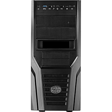 Cooler Master® Mid Tower Elite 431 Plus System Cabinet, Full Black