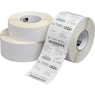 Zebra Technologies® 10015341 Z-Select 4D Paper Label, 1.25in.(L) x 2.25in.(W)