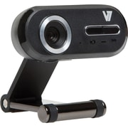 V7® CS720A0-1N Professional Webcam, 2560 x 1920 HD, 12 MP, Black/Silver