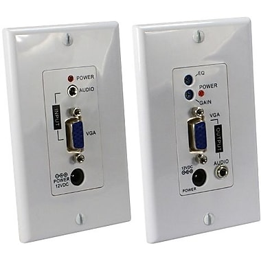 QVS® VGA/WUXGA Over Cat 5E Wall Plate Audio Extender Kit