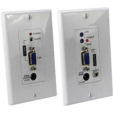QVS® VGA/WUXGA Over Cat 5E Wall Plate Audio Extender Kit