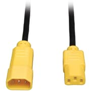 Tripp Lite P004 Power Interconnect Cord, 4'(L), Yellow