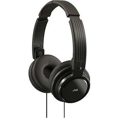 JVC HAS200 Foldable On Ear Headphone, Black