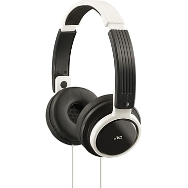 JVC HAS200 Foldable On Ear Headphone, White