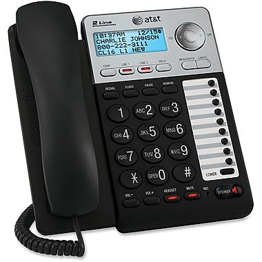 AT&T Trimline® ML17929 2-Line Speaker Phone With Caller ID