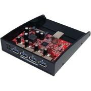 StarTech 35BAYUSB3S4 USB 3.0 Front Panel Hub, 4 Ports