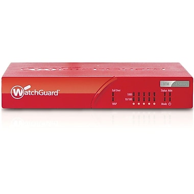 WatchGuard® XTM 25 Firewall Appliances With 1 Year Live Security, 5 IPsec VPN