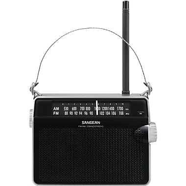 Sangean D6 FM/AM Portable Receiver, Black