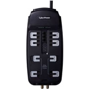 Cyberpower® CSHT808TC 8-Outlet 2850 Joule Home Theater Surge Protector With 8' Cord