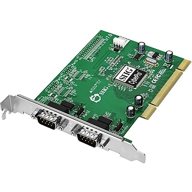 Siig® JJ-P02012-S7 Dual Port Serial Adapter Card