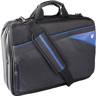 V7® CTD1-9N 16.1in. Edge Laptop Bag, Black/Blue