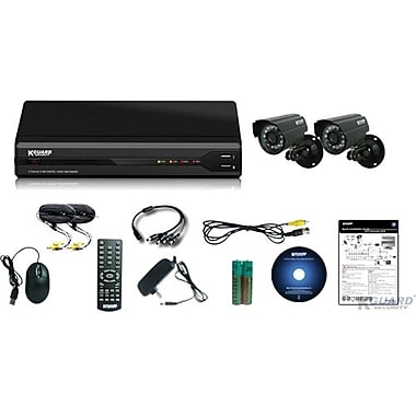Kguard® CW134M 4 Channel H.264 All In One Surveillance Combo Kit With 2 CMOS Cameras