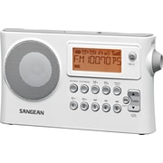 Sangean D14 FM/AM Portable Receiver, White
