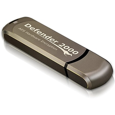 Kanguru™ Defender 2000™ KDF2000 USB 2.0 Flash Drive, 4GB