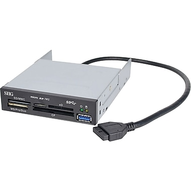 Siig® JU-MR0A11-S1 USB 3.0 Internal Bay Multi Card Reader