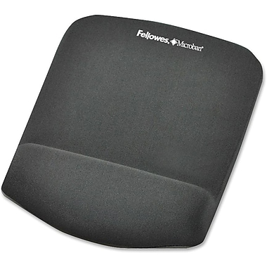 Fellowes® PlushTouch™ 1in.(D) Nonskid Base Polyurethane Mouse Pad With FoamFusion™ Tech, Graphite