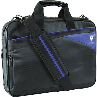 V7® CTD6-9N 14.1in. Edge Laptop Case, Black/Blue