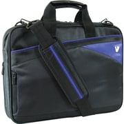V7® CTD6-9N 14.1 Edge Laptop Case, Black/Blue