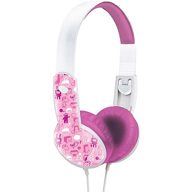 Maxell® 190294 Safe Soundz Headphone, Pink