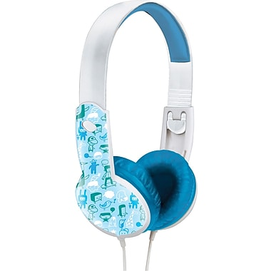 Maxell® 190295 Safe Soundz Headphone, Blue