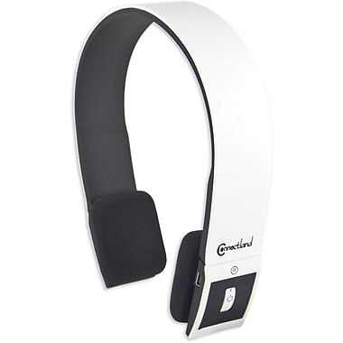 Syba™ Connectland™ CL-AUD23029 Bluetooth Stereo Headset With Microphone, White/Black