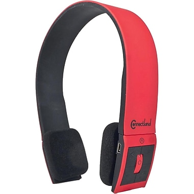 Syba™ Connectland™ CL-AUD23030 Bluetooth Stereo Headset With Microphone, Red/Black