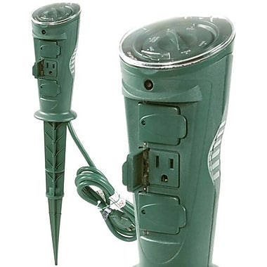 AmerTac™ TM17DOLB 3 Outlet Daily Self Adjusting Photocell Stake Timer