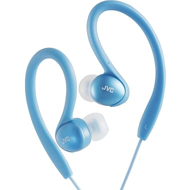 JVC HAEBX5 Sports Ear Clip Headphone, Blue