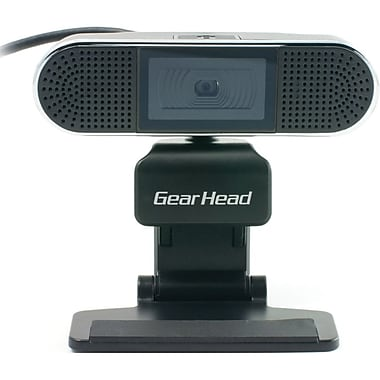 Gear Head™ WC7500HD Webcam, 720p HD, 4 MP, Black, Silver