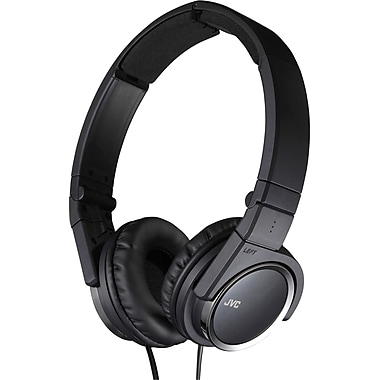 JVC HAS400 Foldable On Ear Headphone, Black