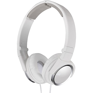 JVC HAS400 Foldable On Ear Headphone, White