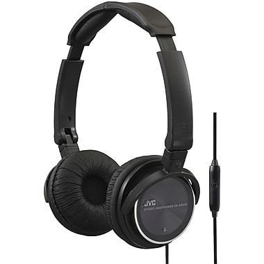 JVC HASR500 Headphone With Remote and Mic, Black