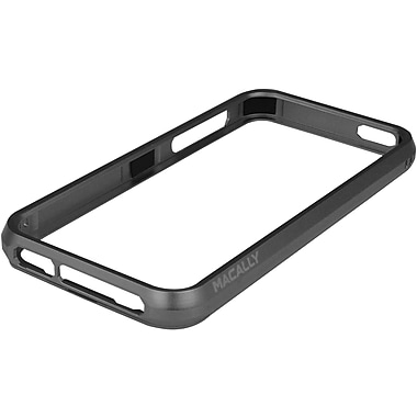 macally™ Protective Frame Case For iPhone 5, Black/Gray