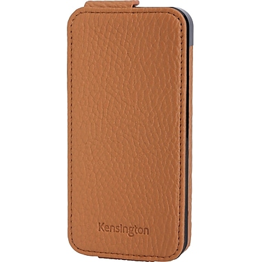 Kensington® Portafolio™ Flip Carrying Case For iPhone 5, Tan