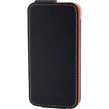Kensington® Portafolio™ Flip Carrying Case For iPhone 5, Black/Orange