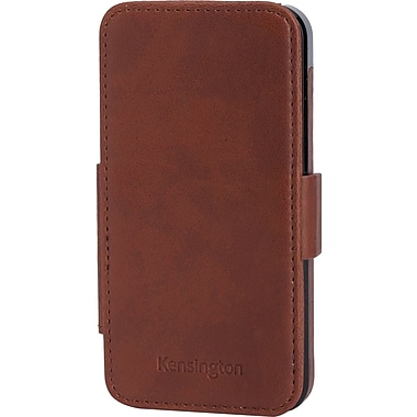 Kensington® Portafolio Duo™ Carrying Case For iPhone 5, Brown Marble
