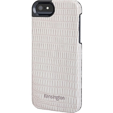 Kensington® Vesto LeaTher Texture Case For iPhone 5, Gray Lizard