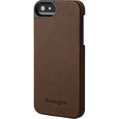 Kensington® Vesto LeaTher Texture Case For iPhone 5, Brown