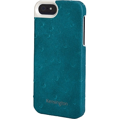 Kensington® Vesto LeaTher Texture Case For iPhone 5, Teal Blue
