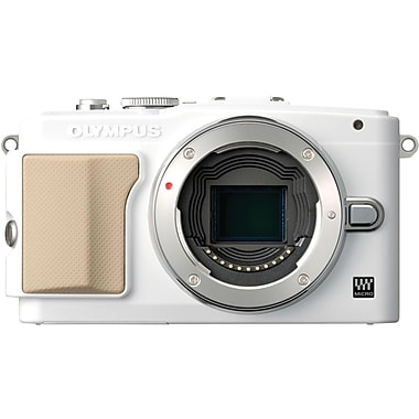 Olympus PEN E-PL5 2 1/2in. H x 4.4in. W x 1 1/2in. D White Mirrorless Digital Camera, 16.1 Mega Pixels