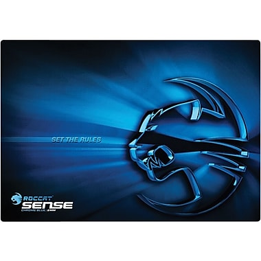 Roccat™ Sense 0.1in.(D) Nonslip Base Rubber Gaming Mouse Pad, Chrome Blue