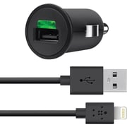 Belkin® F8J090bt04-BLK Car Charger + Lightning Charge Sync Cable For iPhone 5