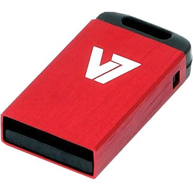 V7® VU24GCR-RED-2N Nano USB 2.0 Flash Drive, 4GB