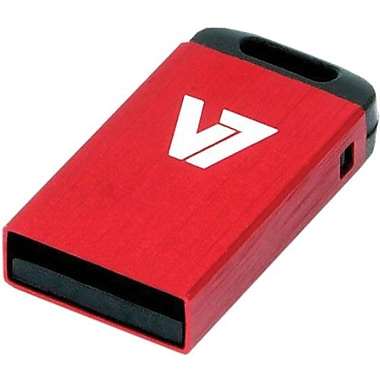 V7® VU216GCR-RED-2N Nano USB 2.0 Flash Drive, 16GB