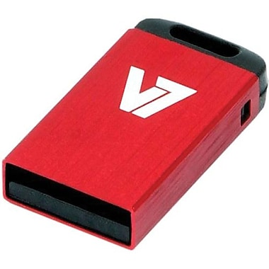 V7® VU232GCR-RED-2N Nano USB 2.0 Flash Drive, 32GB